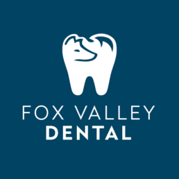 Fox Valley Dental Logo on Blue