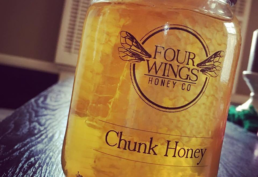 Four wings chunk honey jar