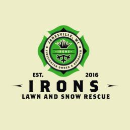 Irons Lawn and Snow Rescue Logo